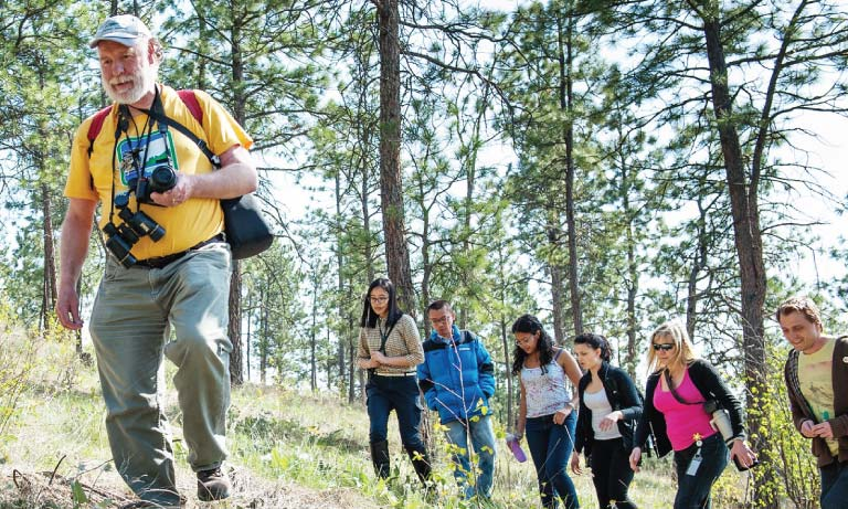Students on field trip