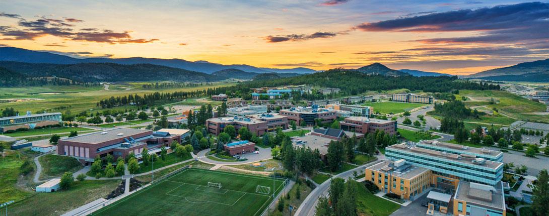 UBCO campus at sunset