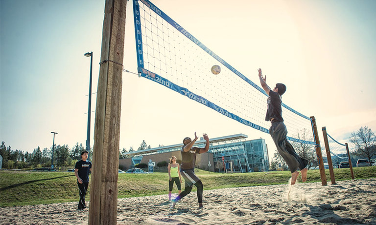 Volleyball on campus
