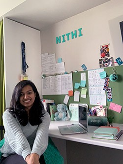 Shree Nithi Santhagunam is working on a literature review about fall prevention among seniors to help increase adherence to prevention protocols.